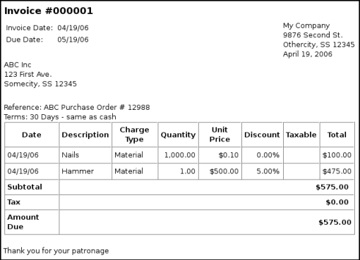Opportunitycaus  Mesmerizing  Invoices With Luxury Invoice Print Output With Lovely Towing Invoice Also Nvc Invoice In Addition Nch Express Invoice And Plumbing Invoice Template As Well As Indesign Invoice Template Additionally General Contractor Invoice Template From Gnucashorg With Opportunitycaus  Luxury  Invoices With Lovely Invoice Print Output And Mesmerizing Towing Invoice Also Nvc Invoice In Addition Nch Express Invoice From Gnucashorg