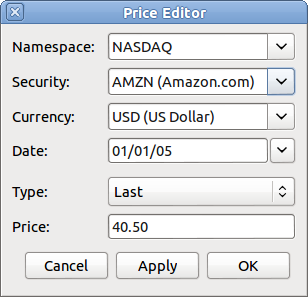 Gnucash stock options
