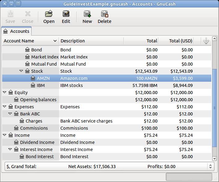 GnuCash screenshot